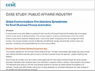 Public Affairs Industry