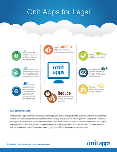 Onit Apps for Legal